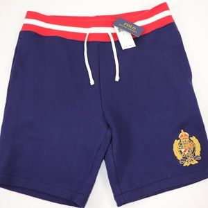 NWT RALPH LAUREN Navy Crested Fleece Sweatshorts